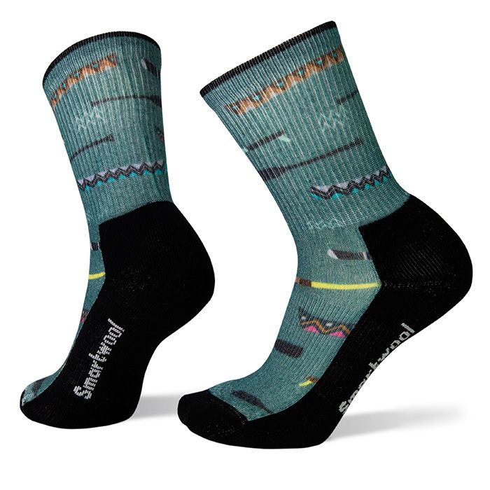 Women's Hike Light Canoe Print Crew Socks