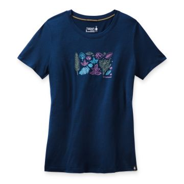 Women's Merino Sport 150 Spring Leaves Graphic Tee