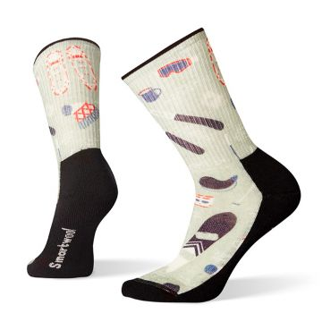 Women's Hike Light Hut Trip Print Crew Socks