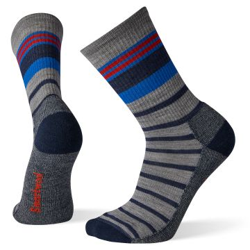 Hike Light Striped Crew Socks
