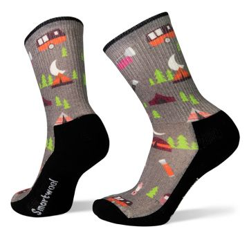 Women's Hike Light Summer Nights Print Crew Socks