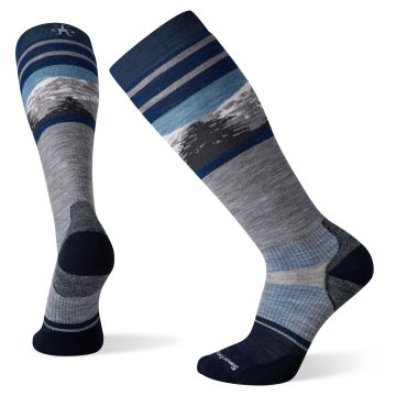 Snow Targeted Cushion Pattern OTC Socks