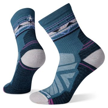 Women's Hike Light Cushion Ethno Graphic Mid Crew Socks