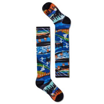 Junior Ski Zero Cushion Skication Print OTC Socks