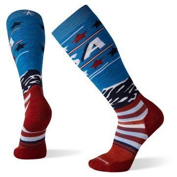 Snow Targeted Cushion Pattern USA Flag OTC Socks