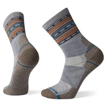 Men's Hike Light Cushion Spiked Stripe Crew Socks
