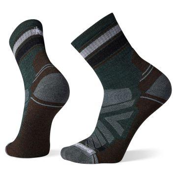 Men's Hike Light Cushion Striped Mid Crew Socks
