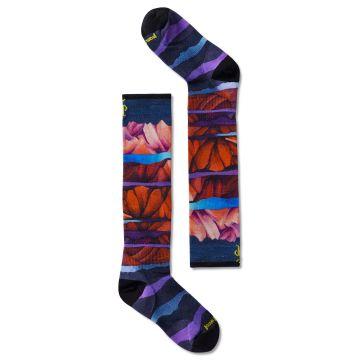Junior Ski Zero Cushion Mountain Print OTC Socks