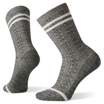 Women's Everyday Tube Stripe Cable Crew Socks