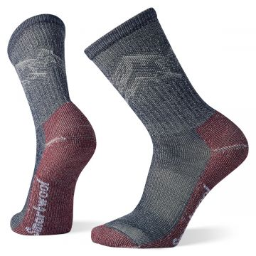 Men's Hike Classic Edition Light Cushion Mountain Pattern Crew Socks
