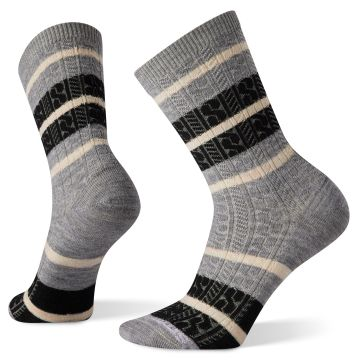 Women's Everyday Striped Cable Crew Socks