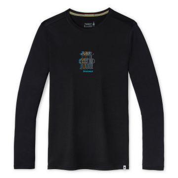 Men's Merino Sport 150 Smartwool Logo Long Sleeve Graphic Tee