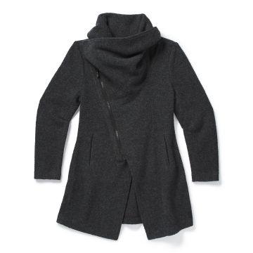 Manteau asymétrique en sherpa Anchor Line pour femmes