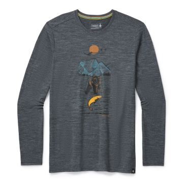 Men's Merino Sport 150 Alpine Bear Long Sleeve Graphic Tee