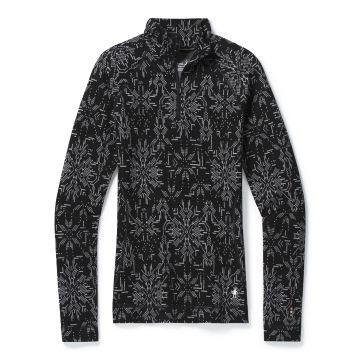 Vêtement de base à demi-glissière et motif Merino250 pour femmes