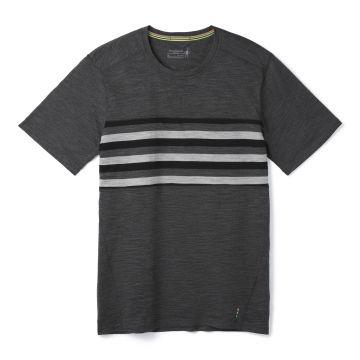 Haut à manches courtes et contraste de couleurs Merino 150 pour hommes