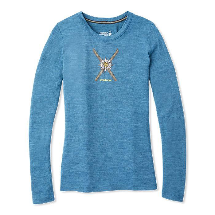 T-shirt à manches longues Merino Sport150Powder Flower pour femmes