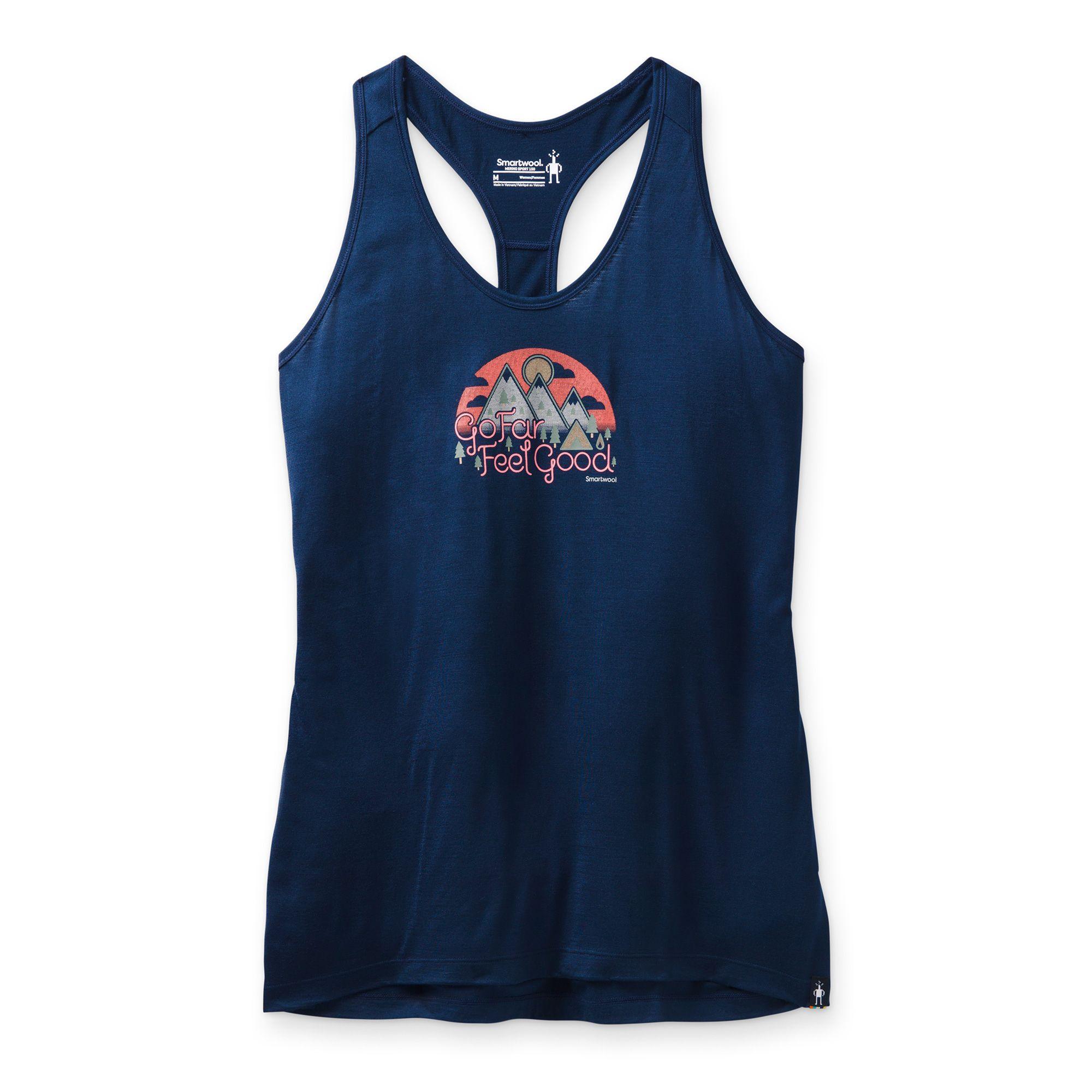Camisole imprimée Merino Sport150 Go Far Feel Good pour femmes