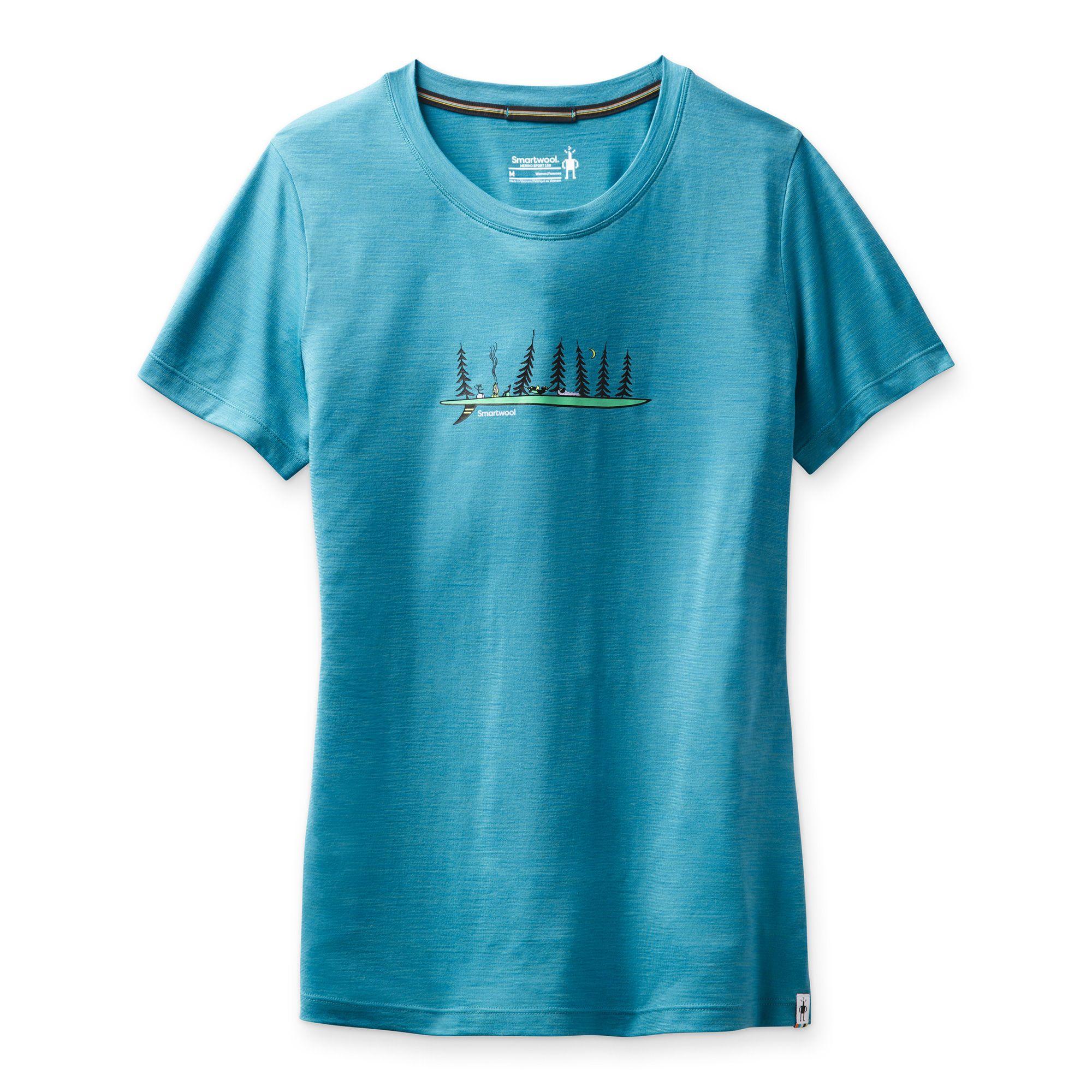 T-shirt imprimé Merino Sport 150 Camping With Friends pour femmes