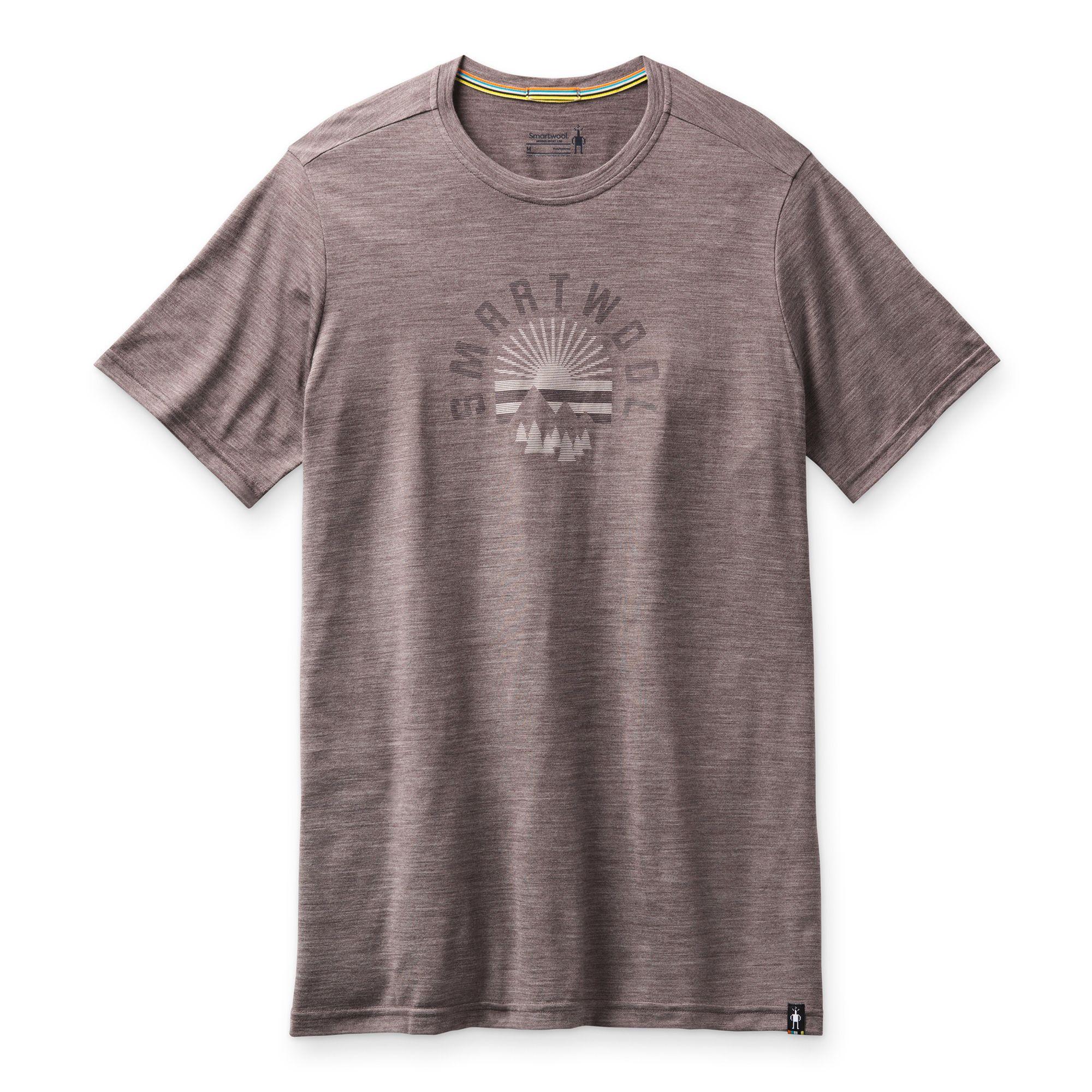 T-shirt imprimé Merino Sport 150 Sunrise Mountains pour hommes