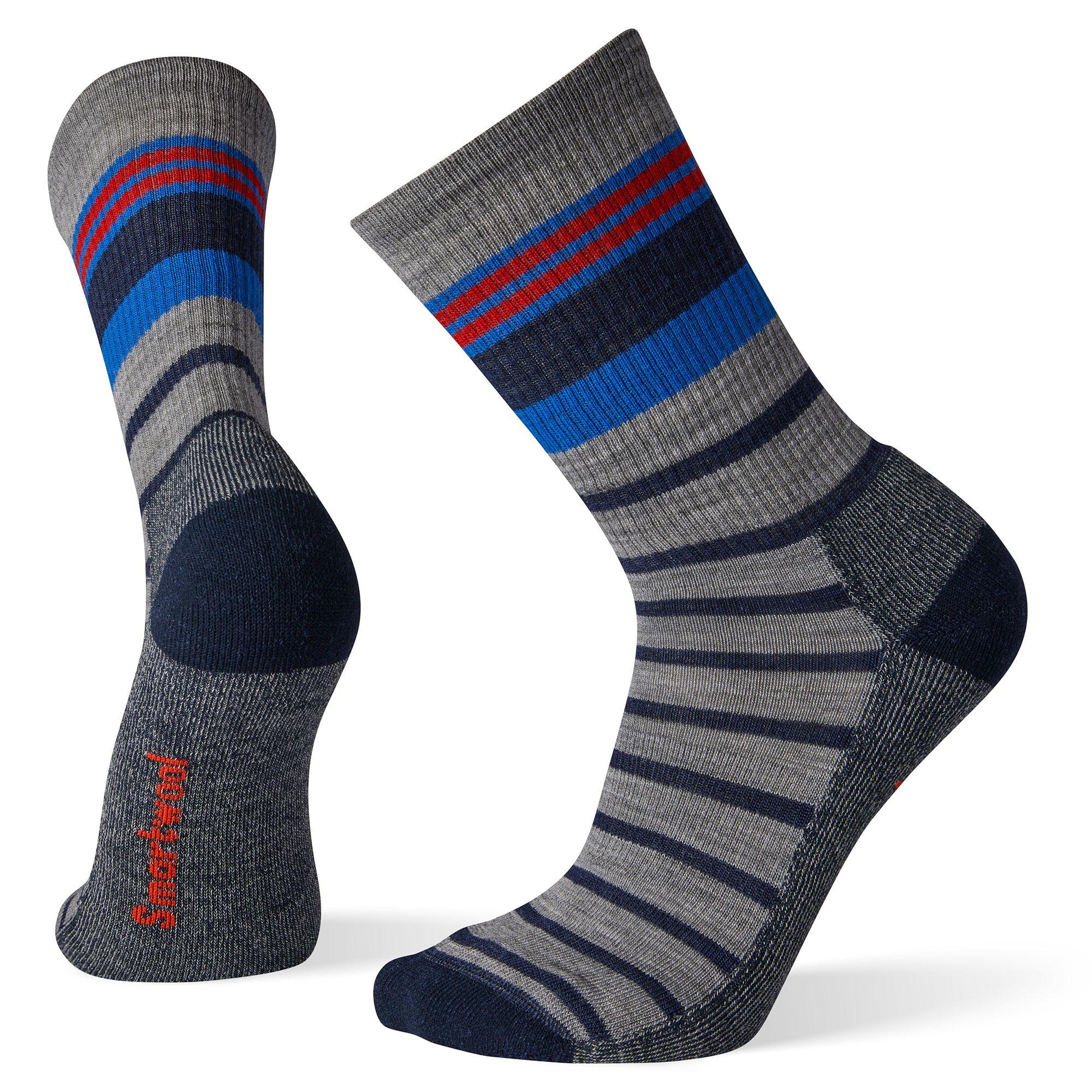 Hike Light Striped Crew Socks