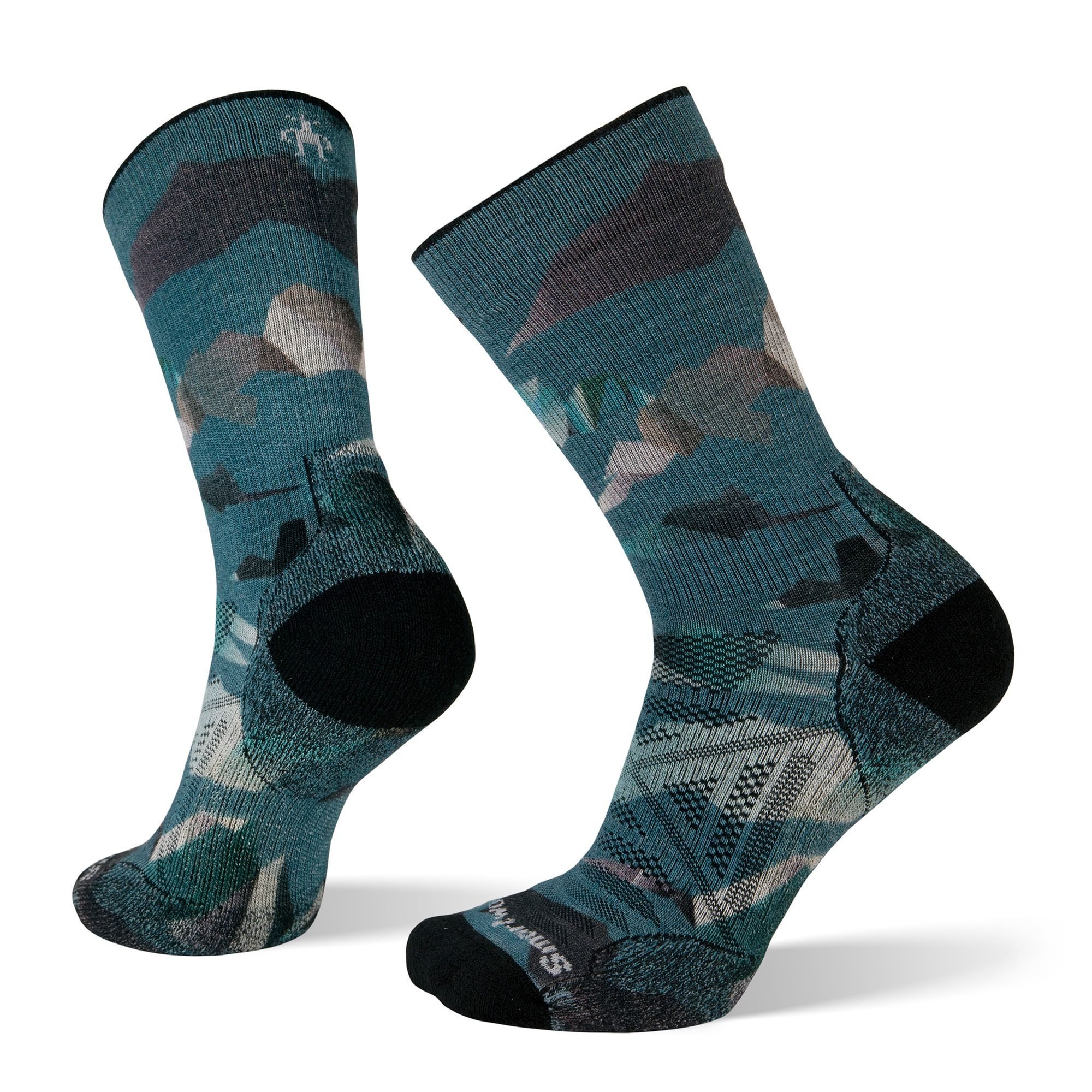 PhD® Outdoor Light Mountain Camo Print Crew Socks