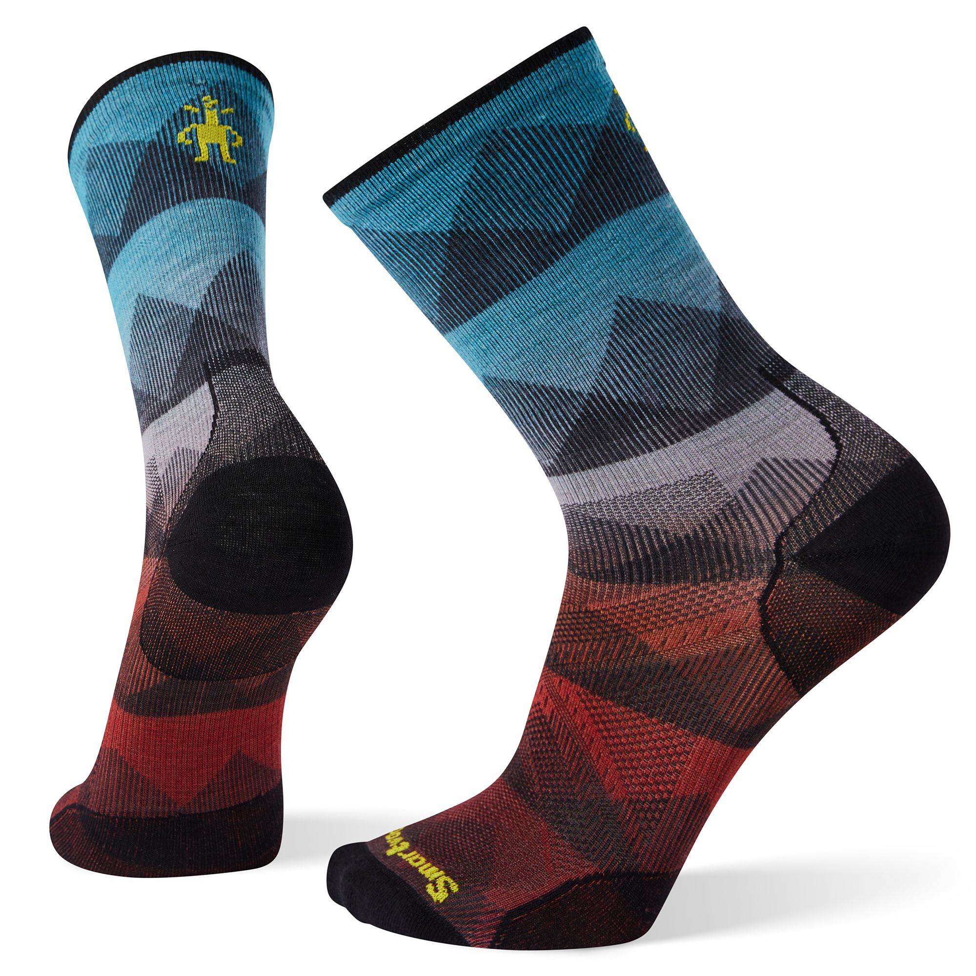 PhD® Cycle Ultra Light Mountain Mesh Print Crew Socks