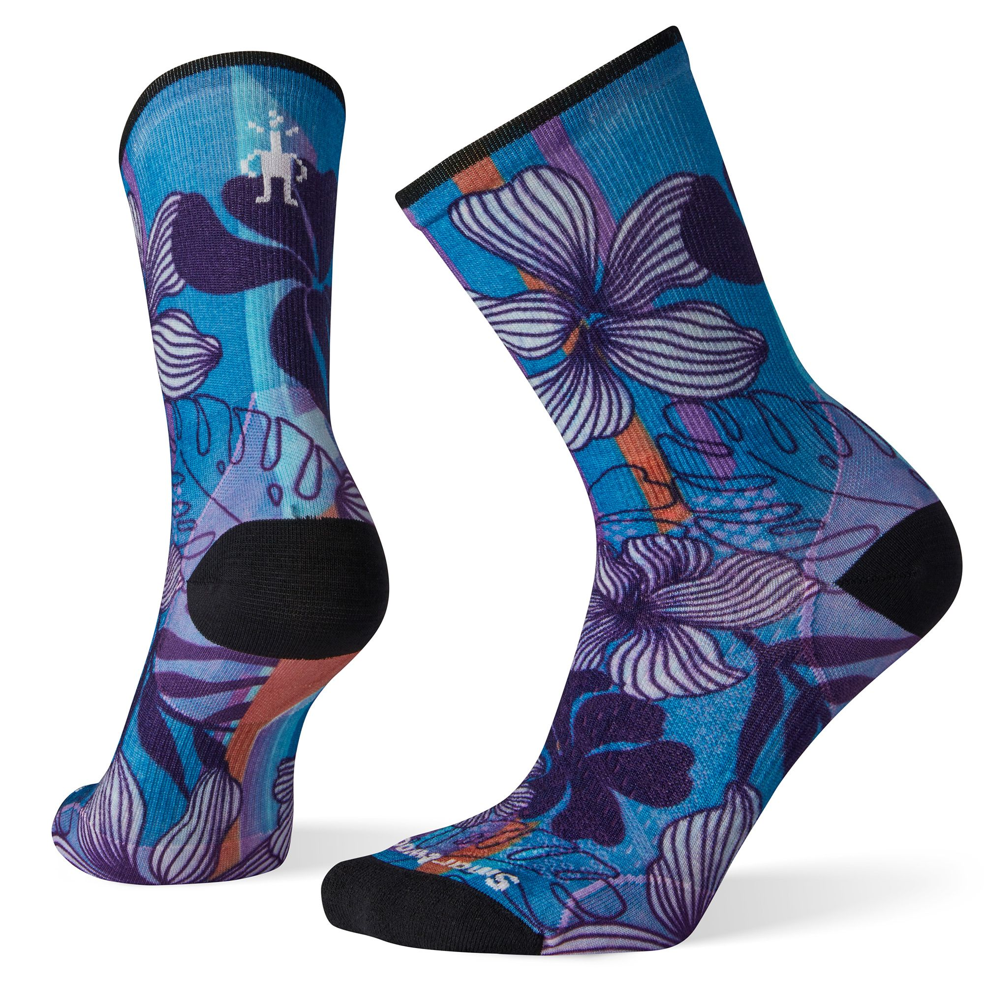 Women's PhD® Cycle Ultra Light Print Crew Socks