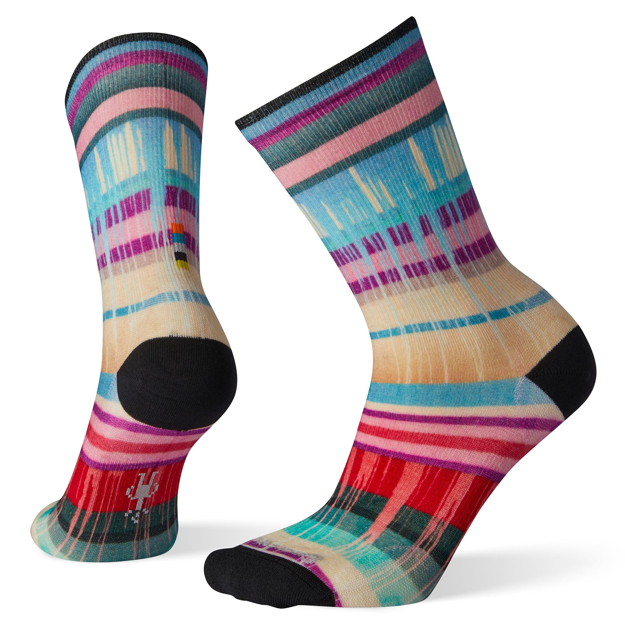 Women's Curated Drippy Stripes Crew Socks