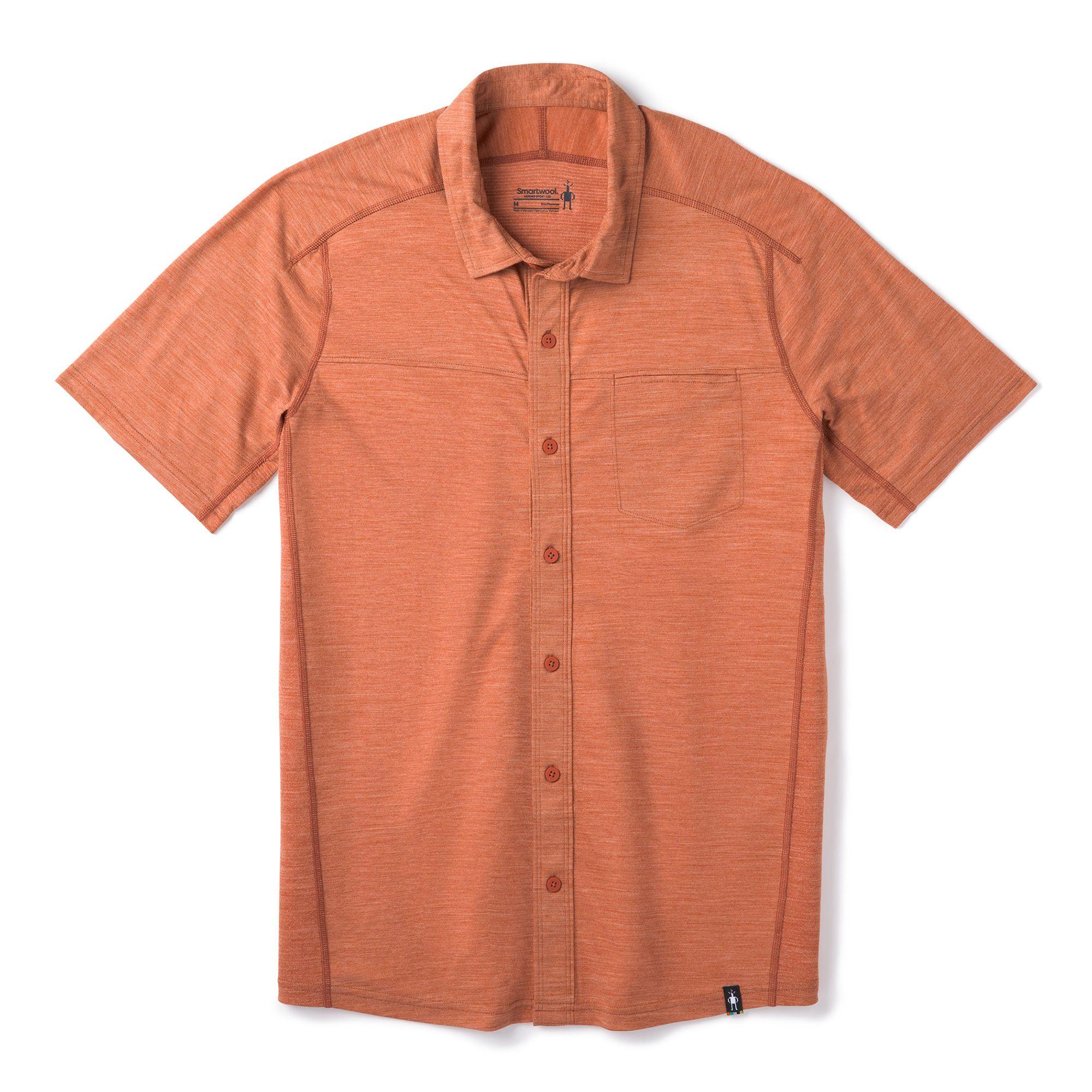 Chemise boutonnée à manches courtes Merino Sport 150 pour hommes