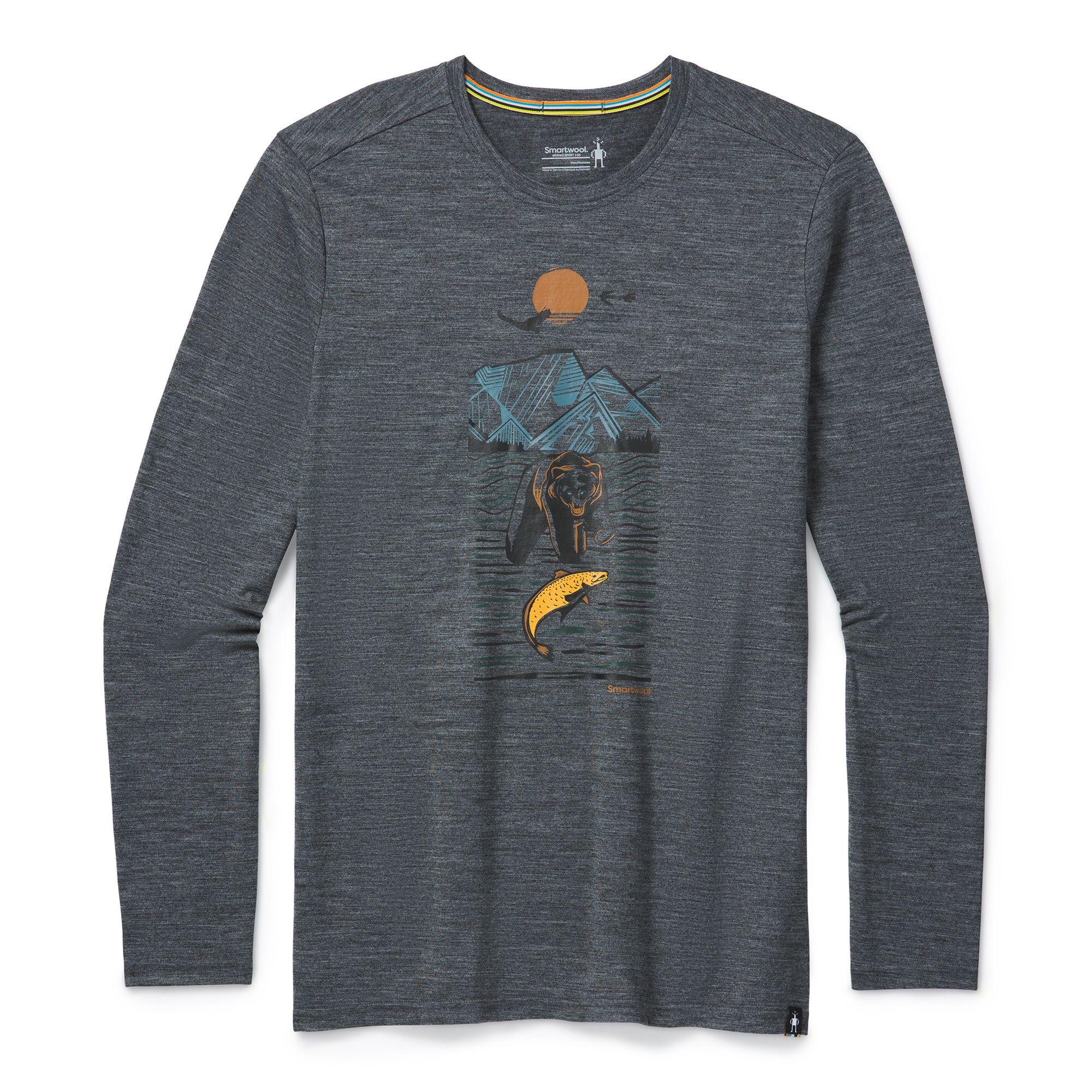 T-shirt à manches longues Merino Sport 150 Alpine Bear pour hommes