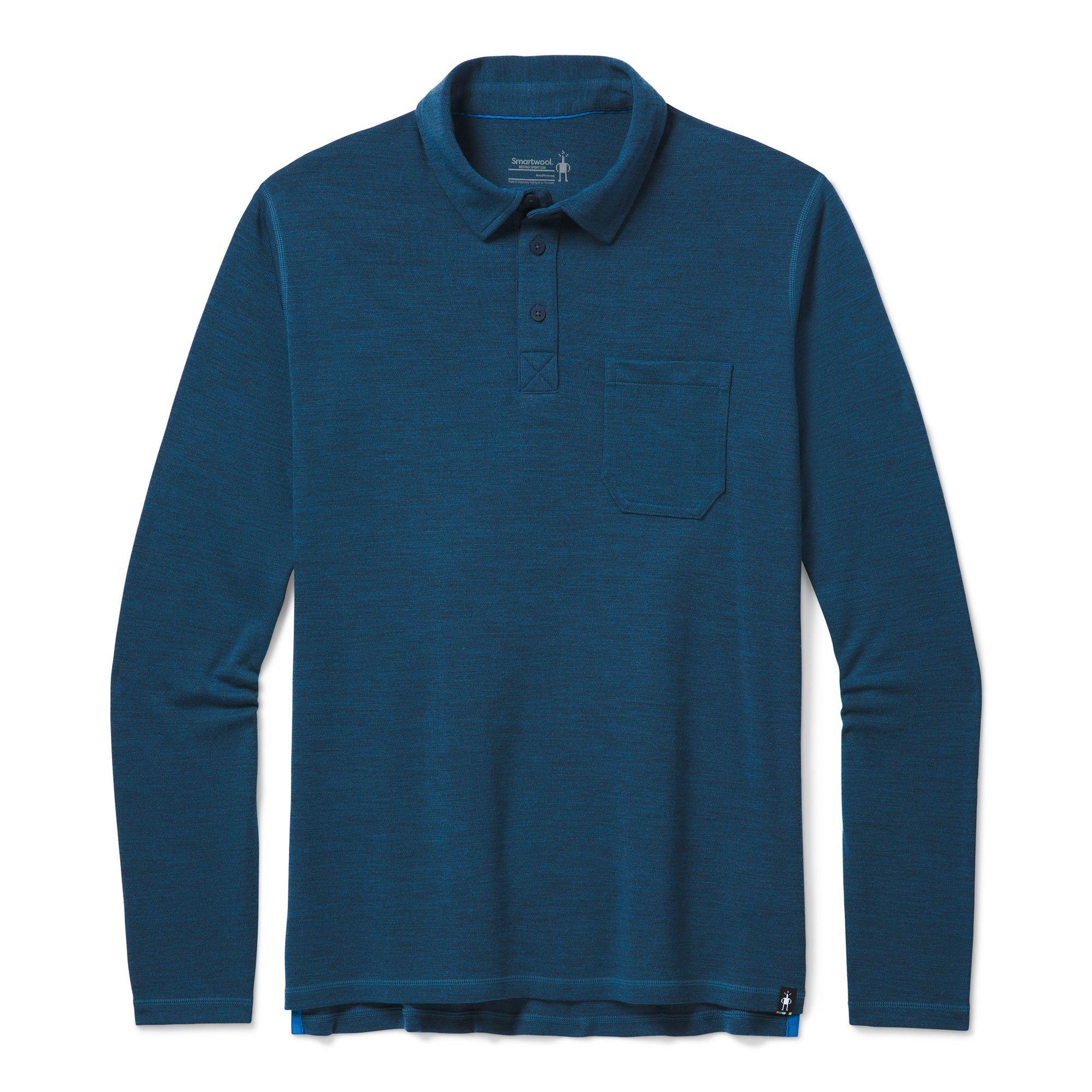 Polo à manches longues Merino Sport250 pour hommes