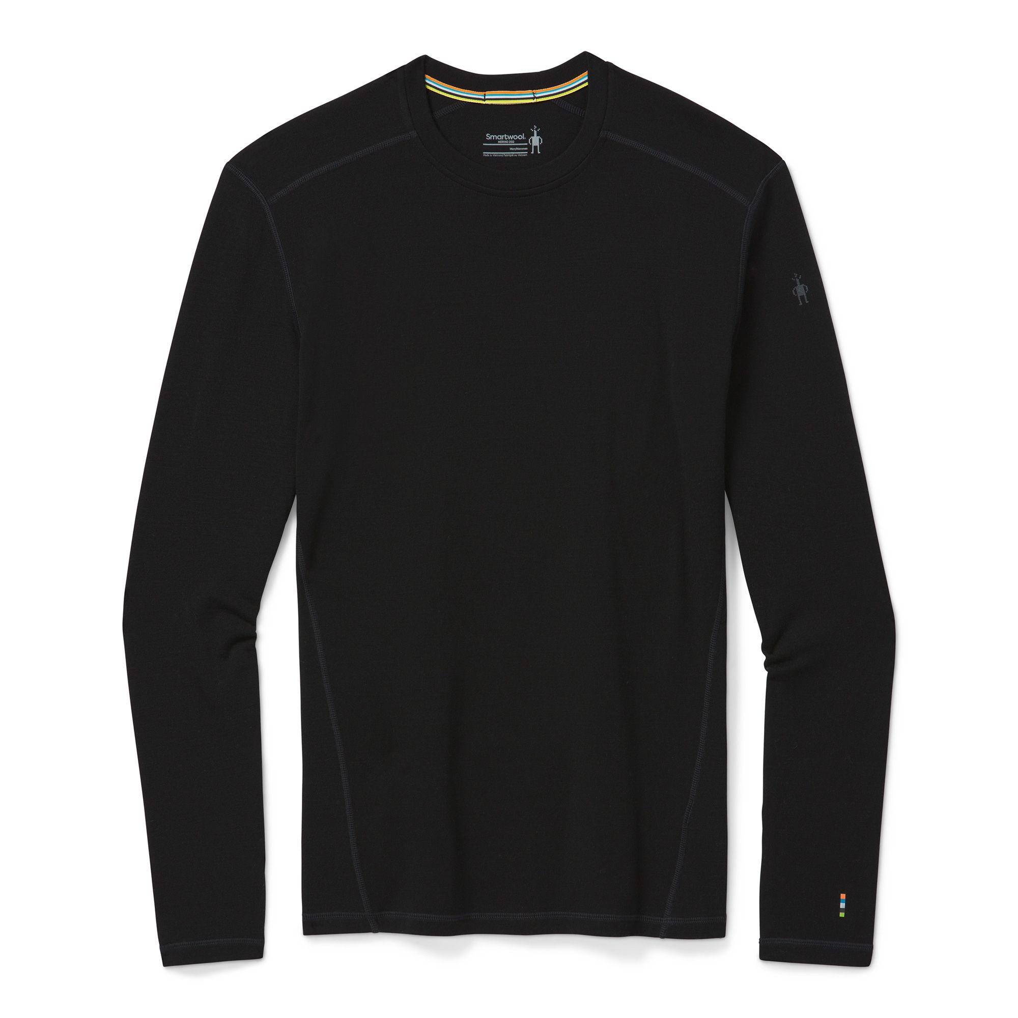 Vêtement de base à encolure ronde Merino250 pour hommes