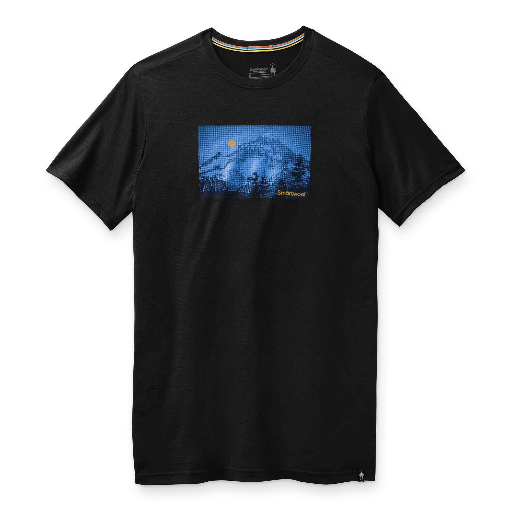 T-shirt imprimé Merino Sport 150 Mount Hood Moon pour hommes