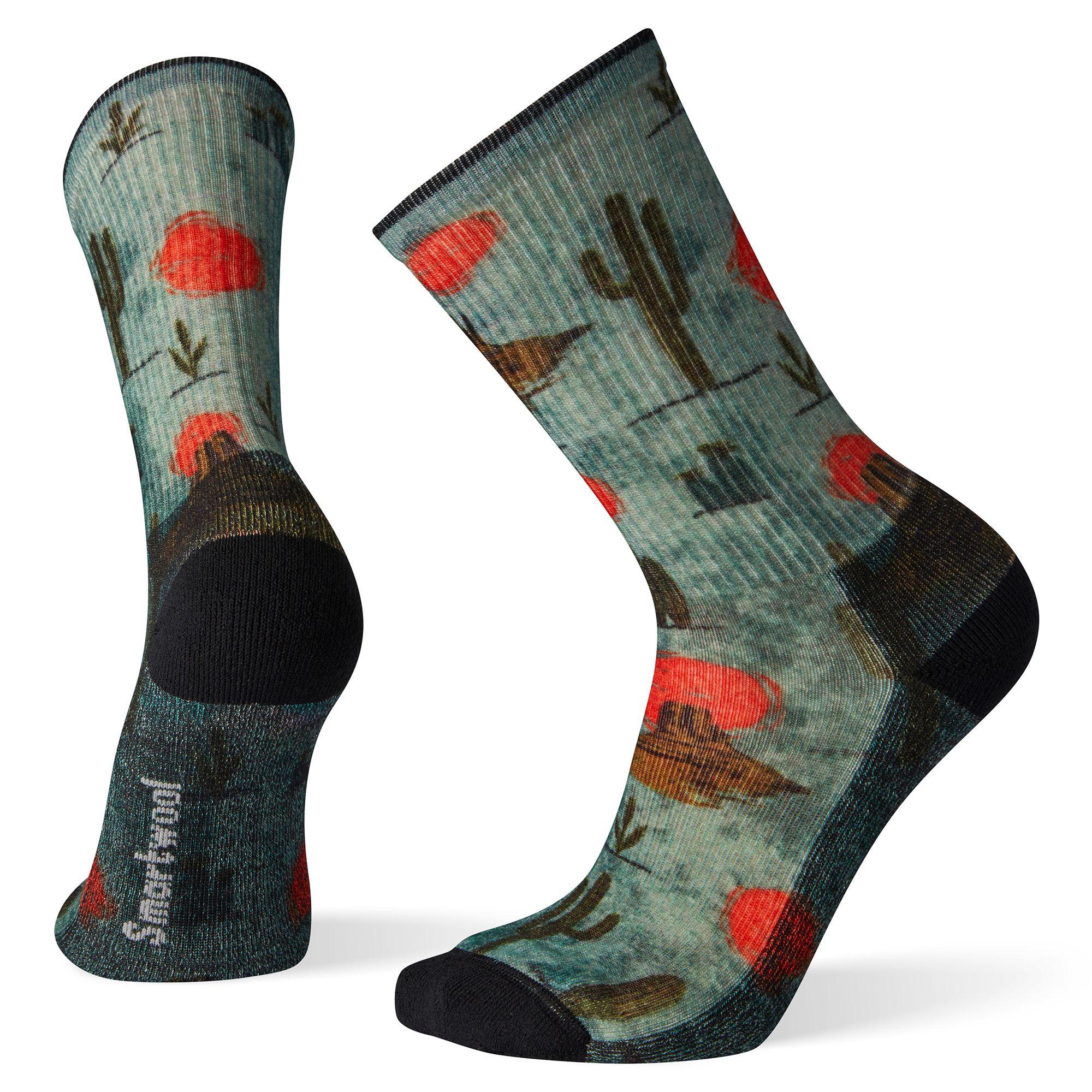 Hike Light Desert Solitaire Print Crew Socks