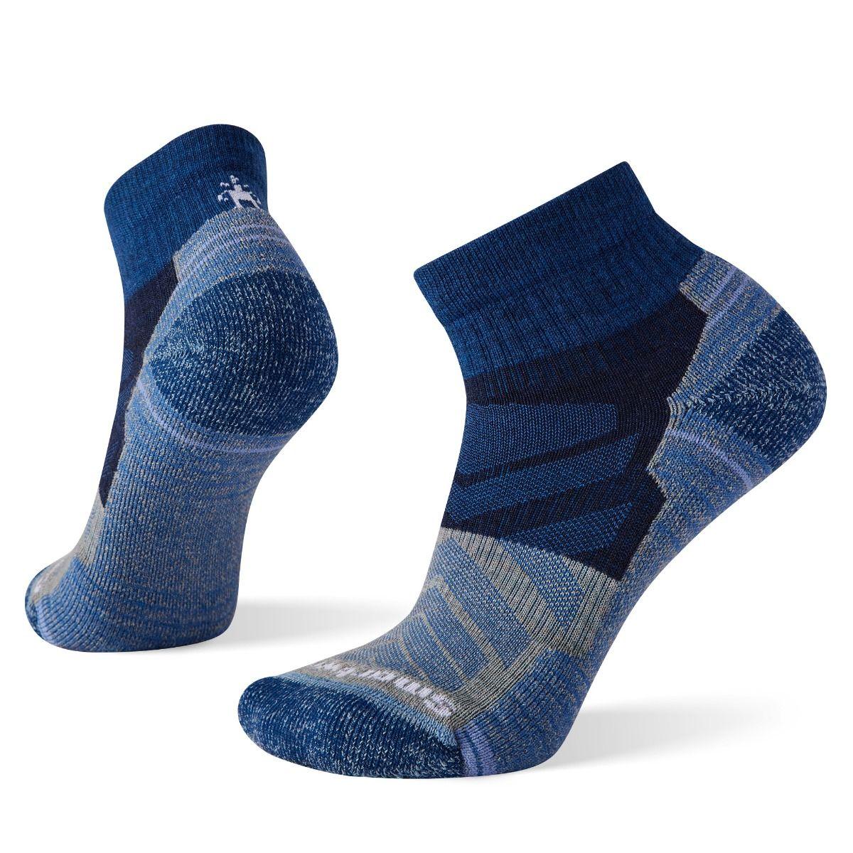 Women's Hike Light Cushion Color Block Pattern Ankle Socks