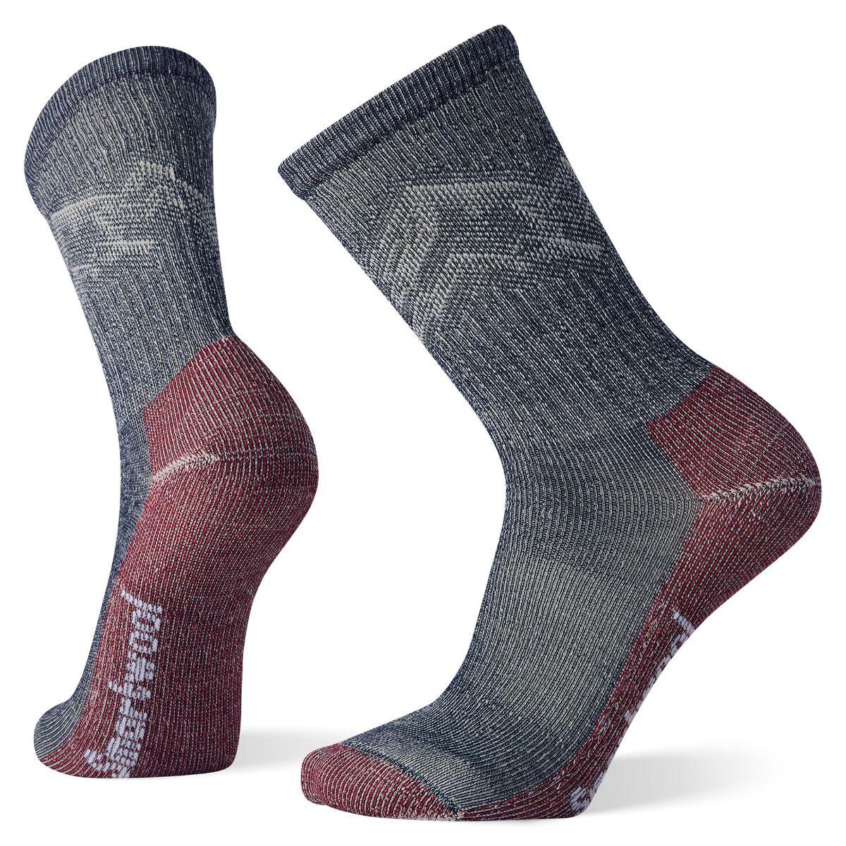 Men's Hike Classic Edition Light Cushion Mountain Pattern Crew Socks