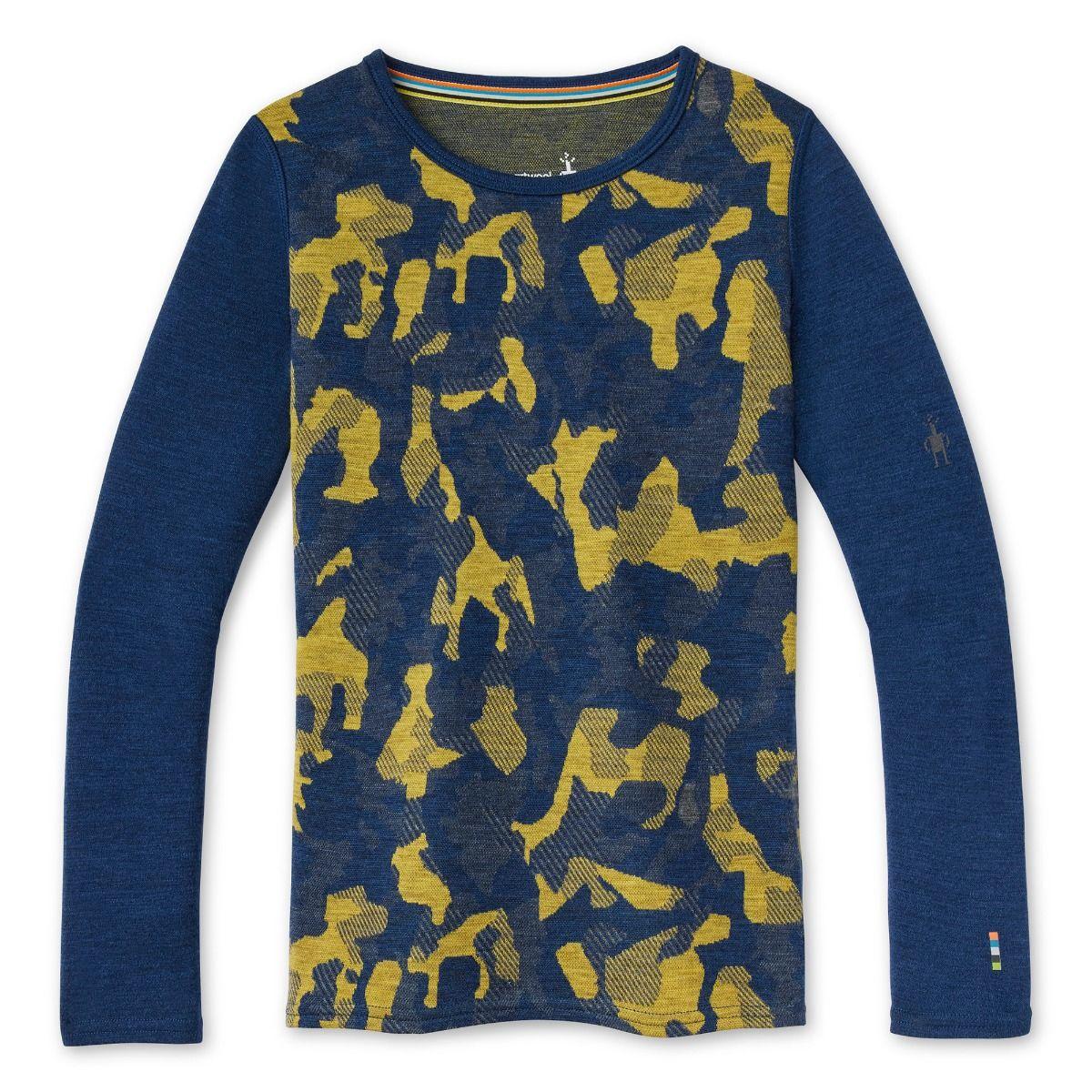 Vêtement de base à encolure ronde Merino 250 à motif pour enfants