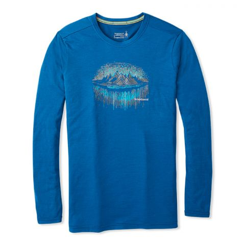 Men's Merino Sport 150 Mountain Aurora Long Sleeve Tee