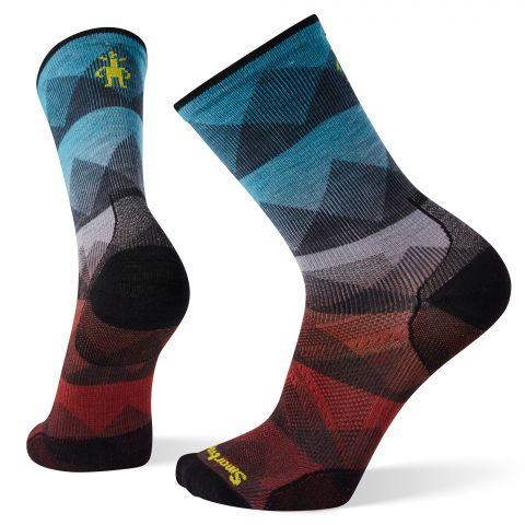 PhD® Cycle Ultra Light Mountain Mesh Print Crew Socks