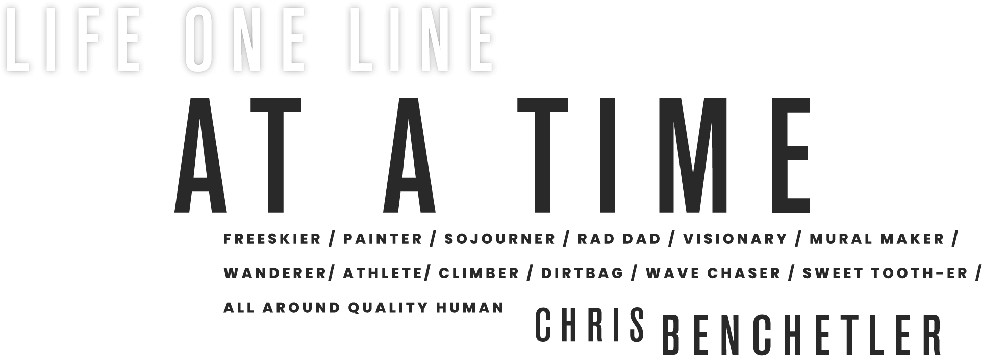 Life one line at time