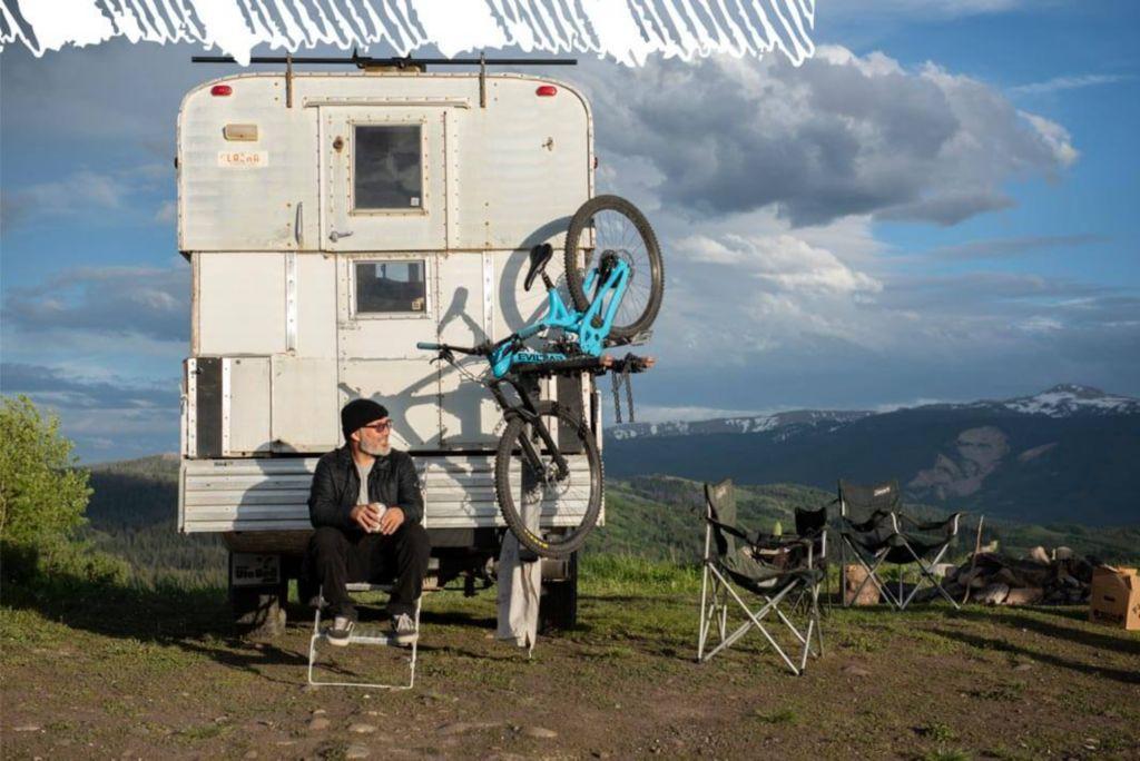 Bryan Iguchi and his camper