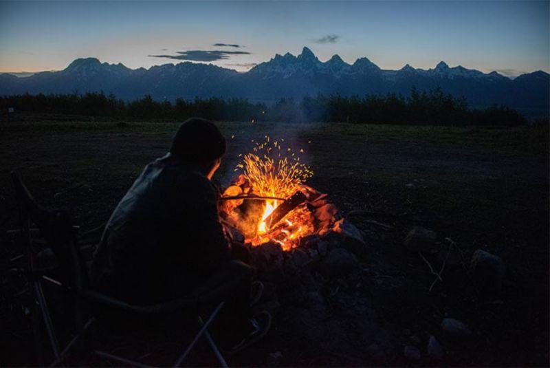 Chris Benchetler's van in front of a mountain