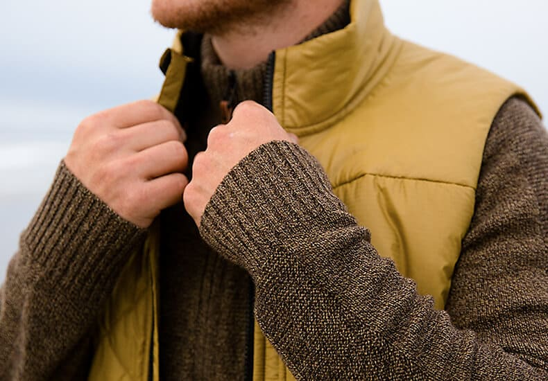 Wool apparel layer
