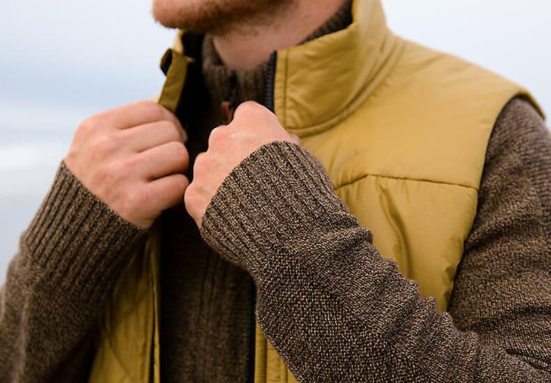 Wool apparel layer